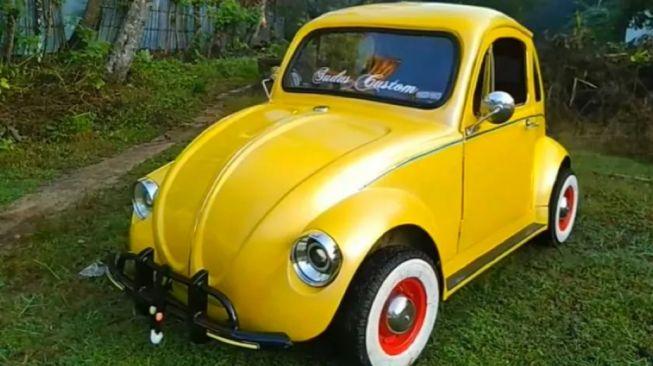 Viral Pikap Pakai Mesin Shogun Pria Ini Sulap Motor Jadi VW Kodok