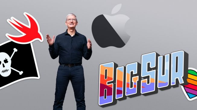 CEO Apple, Tim Cook dalam ajang WWDC 2020. [Apple]