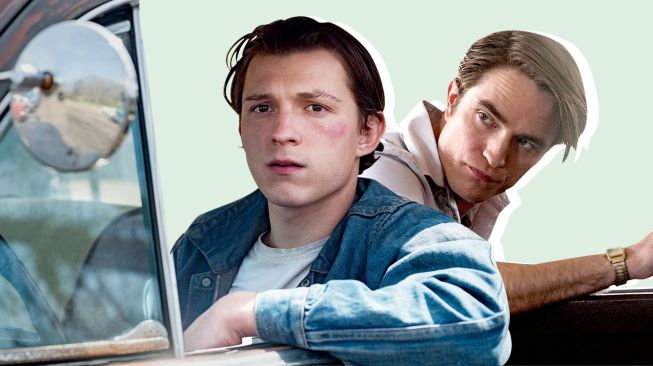 Robet Pattinson dan Tom Holland dalam film The Devil All The Time.