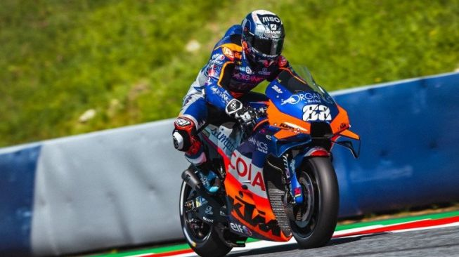 Pebalap tim KTM Tech 3 Miguel Oliveira di Grand Prix Styria, Sirkuit Red Bull Ring, Spielberg, Austria. ( KTM Images/Polarity Photo)