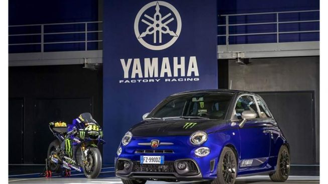 Fiat Abarth 595 livery Yamaha Factory Racing (Visordown)