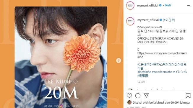 Lee Min Ho [Instagram/@myment_official]