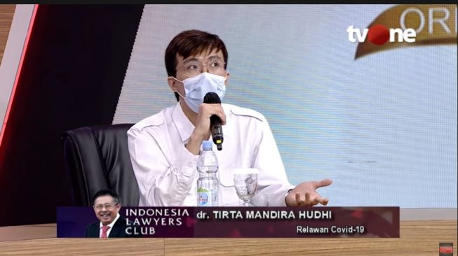 Dokter Tirta di ILC TV One. (Youtube/IndonesiaLawyersClub)