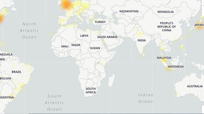Twitter Down. [Down detector]