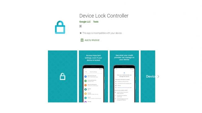 Device Lock Controller. [Google Play Store]