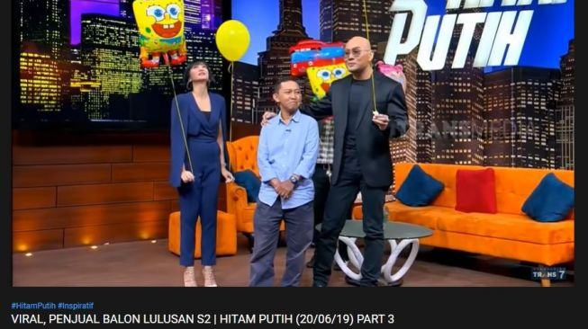 S2 penjual balon. (YouTube/TRANS7 OFFICIAL)
