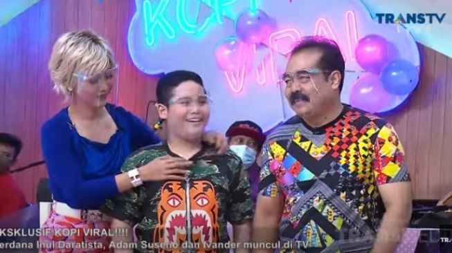 Inul Daratista, Adam Suseno dan Yusuf Ivander Damares [YouTube/TRANS TV Official]