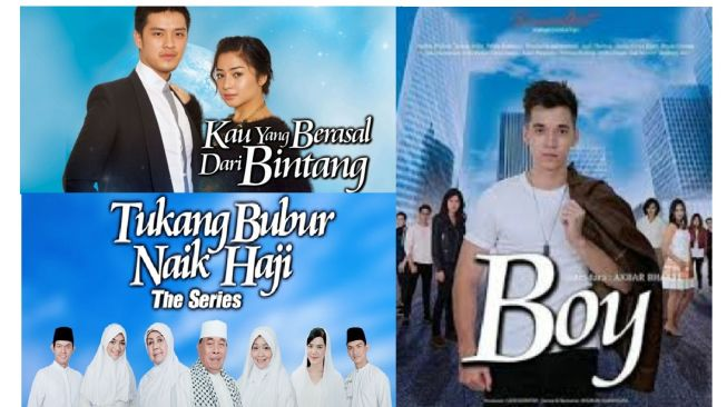 Poster sinetron Indonesia dengan font Cataneo BT