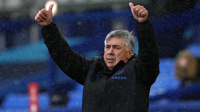 Pelatih Everton, Carlo Ancelotti. [JAN KRUGER / POOL / AFP]