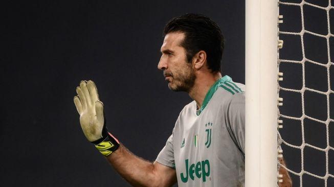 Kiper Juventus, Gianluigi Buffon. [MARCO BERTORELLO / AFP]