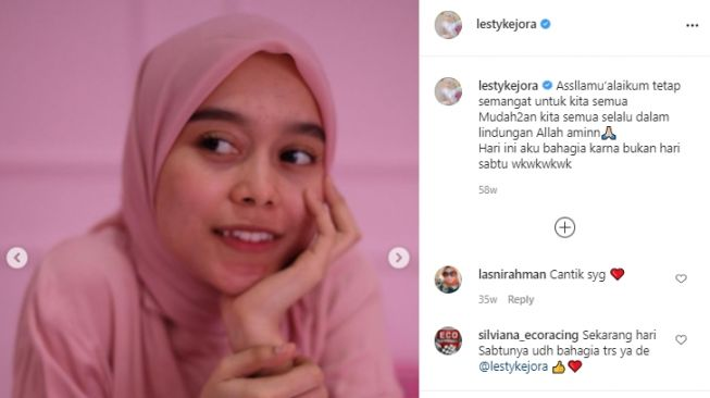 Potret Lesti Kejora jerawatan [Instagram]