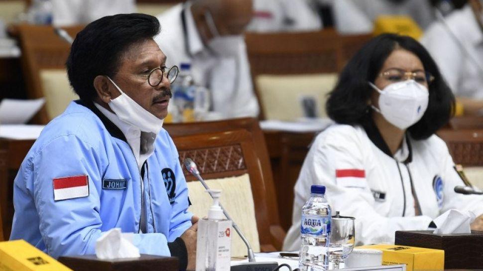 72618 menteri komunikasi dan informatika menkominfo johnny plate