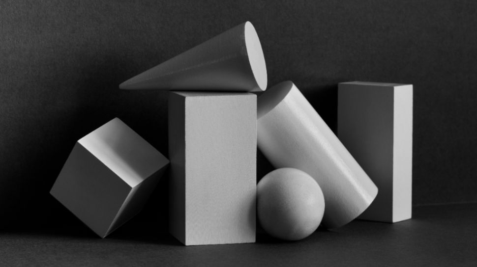 11192 ilustrasi bangun ruang kerucut kubus balok bola