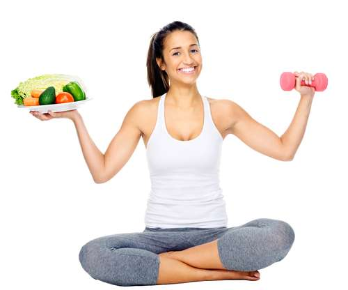 Illustration of diet and exercise for a healthy and fit body.  (Shutterstock)