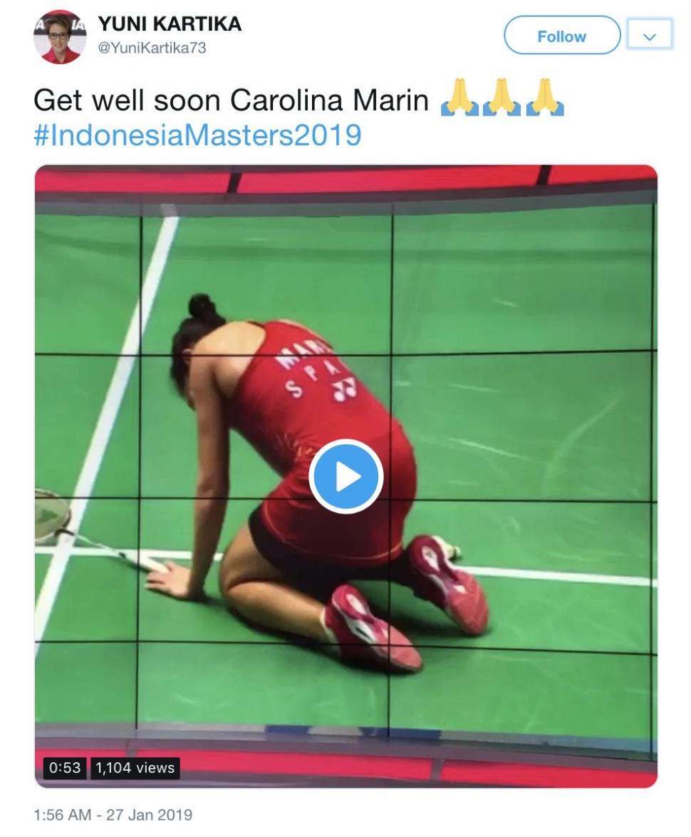 Get well soon Carolina Marin #IndonesiaMasters2019