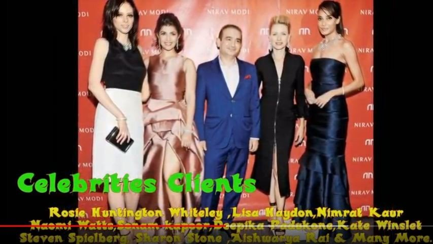 Model Coco Rocha, actress and model Nimrat Kaur, actress Naomi Watts and Bollywood star Lisa Haydon, left to right, join luxury jeweler Nirav Modi, center, to celebrate the opening of the first Nirav Modi boutique in the U.S. on Tuesday, Sept. 8, 2015, in New York. [Youtube @Beautiful no1]