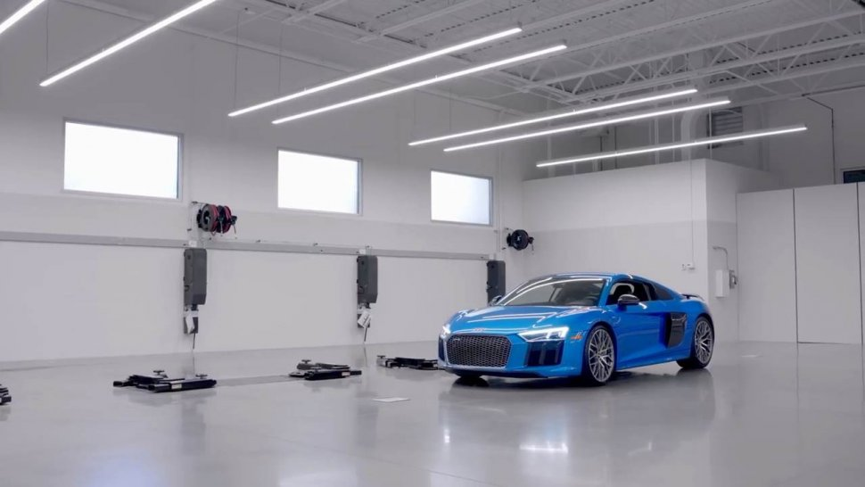 Audi R8. (YouTube/Audi USA)