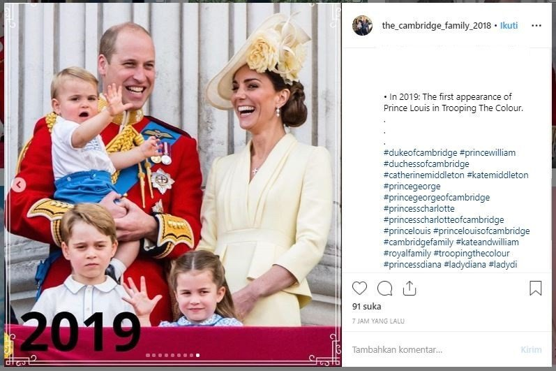 Trooping the Colour. (Instagam/@the_cambridge_family_2018)