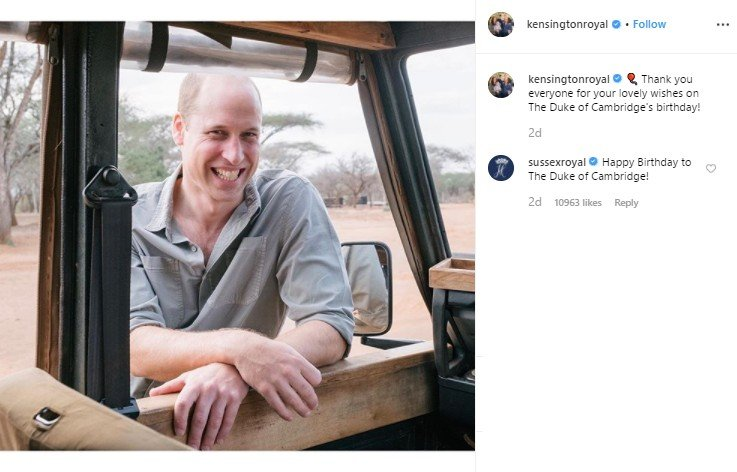 Pangeran William ulang tahun. (Instagram/@kensingtonroyal)