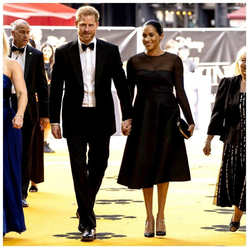 Pangeran Harry dan Meghan Markle hadir di premier film The Lion King. (Instagram/@sussexroyal)