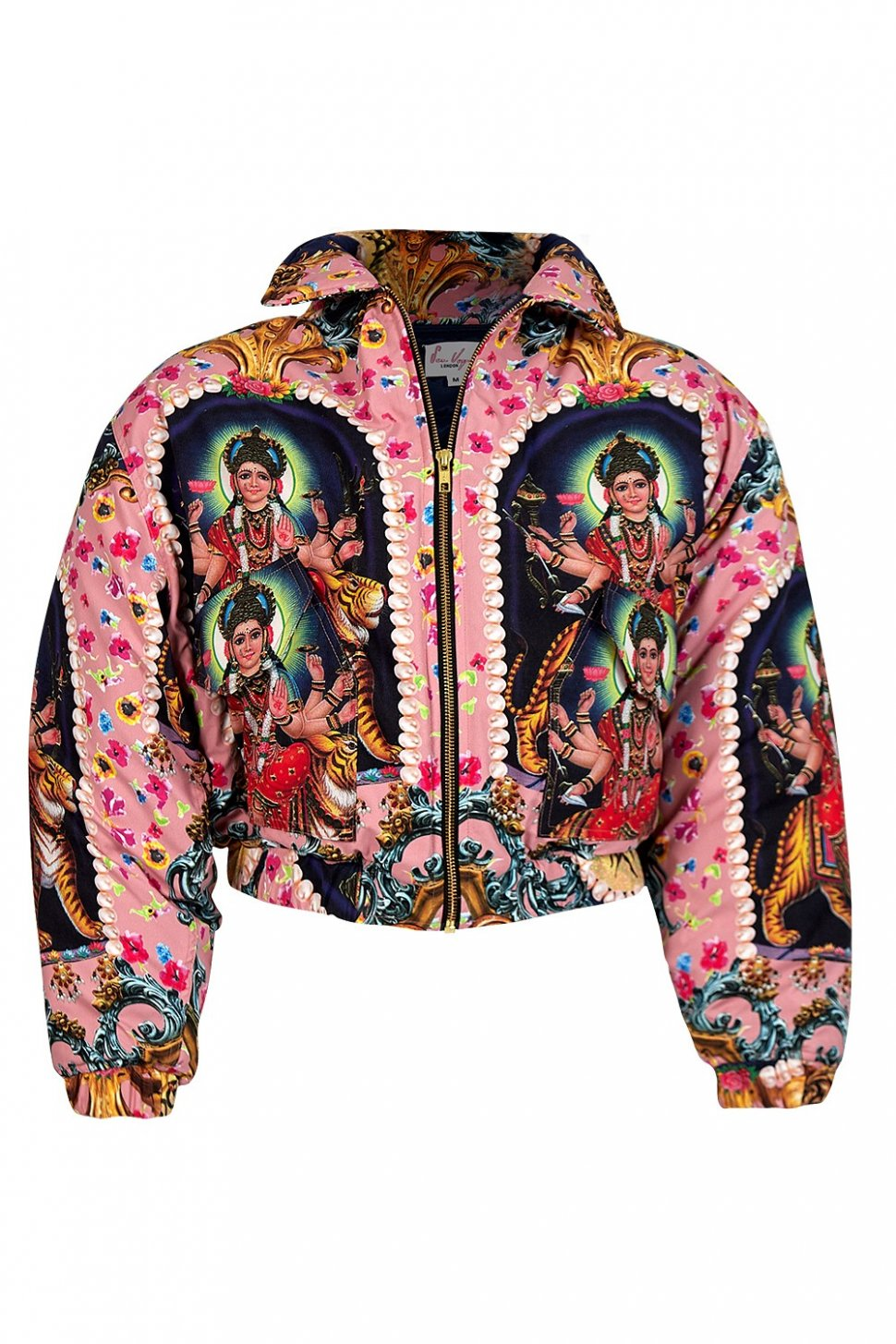 Goddess Print Puffer Jacket. (Suldn.com)
