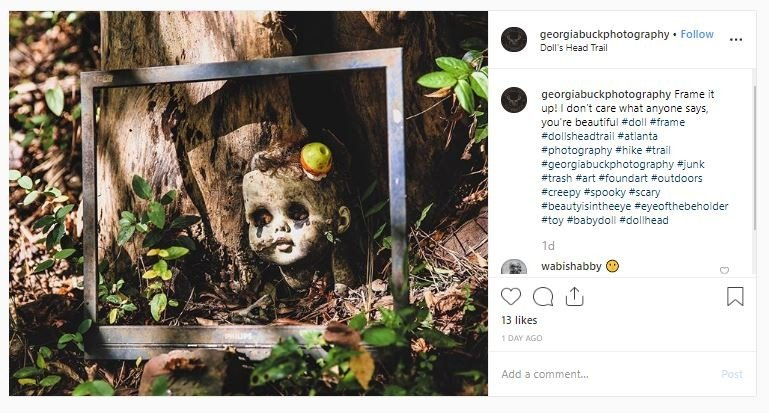 Jalur Pendakian Doll's Head Trail (instagram.com/georgiabuckphotography)
