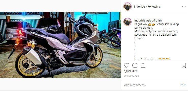Modifikasi Honda ADV 150. (Instagram/indoride)