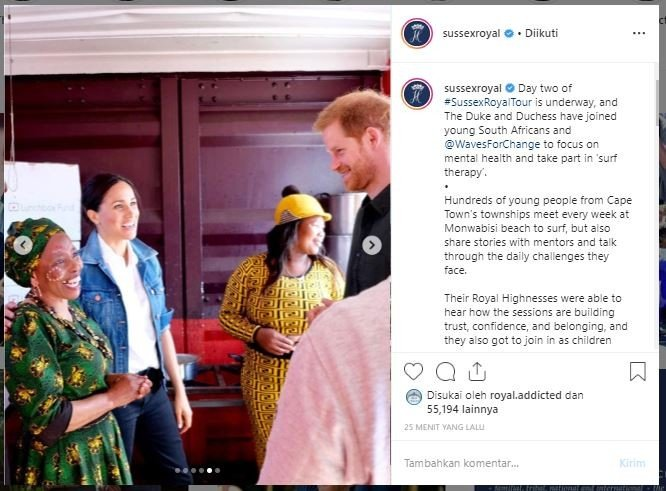 Meghan Markle royal tour di Afrika. (Instagram/@sussexroyal)