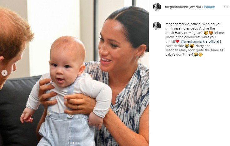Potret bayi Archie di Afrika. (Instagram/@meghanmarkle_official)