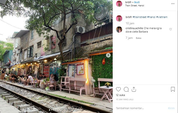 Old Quarter, train street di Hanoi, Vietnam. (Instagram/@brbfr)