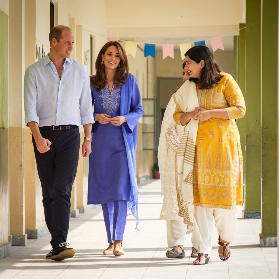 Pangeran William dan Kate Middleton di Pakistan. (Instagram/@kensingtonroyal)