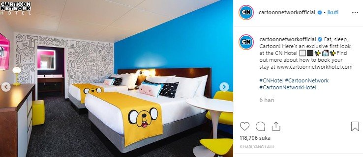 Cartoon Network Hotel. (Instagram/@cartoonetworkofficial)
