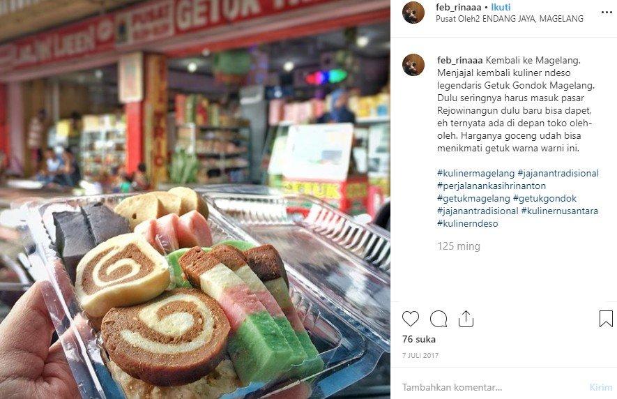 Getuk Gondok di Magelang. (Instagram/@feb_rinaaa)