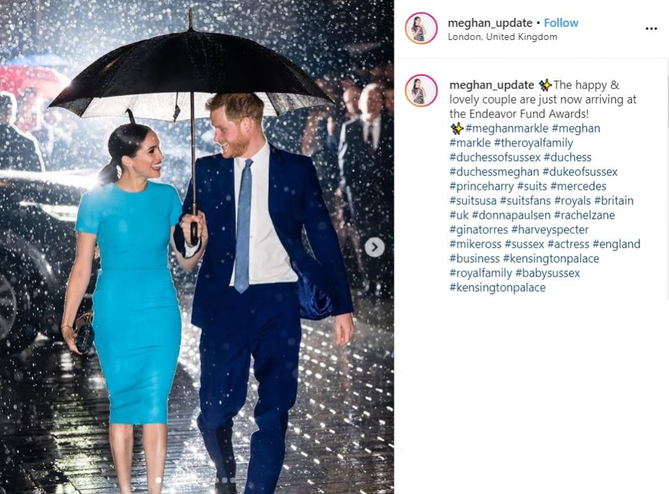 Pangeran Harry dan Meghan Markle. (Instagram/@meghan_update)