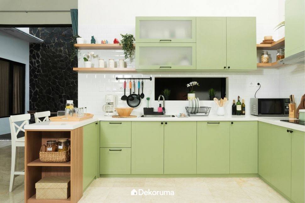 4 Inspirasi Kitchen Set Warna Warni