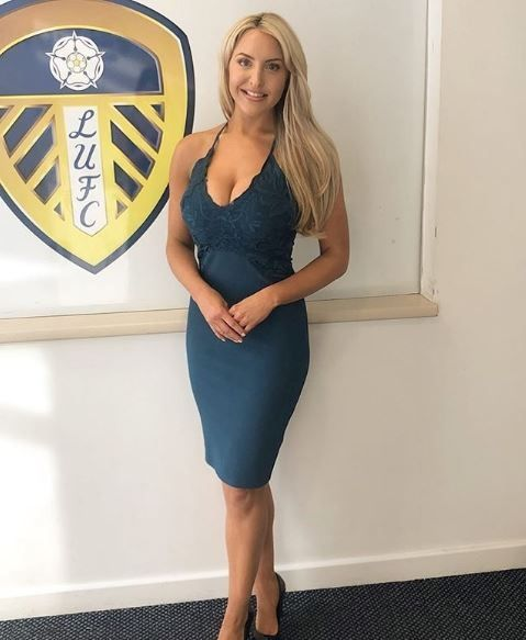 Presentar Leeds United TV, Emma Jones. (Instagram/eljonesuk)