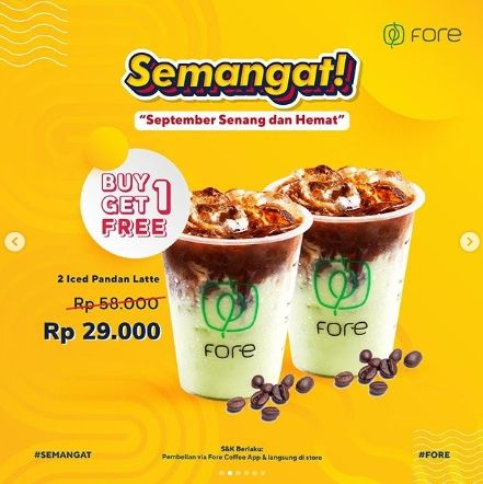 Promo September di Fore Coffee. (Instagram/@fore.coffee)