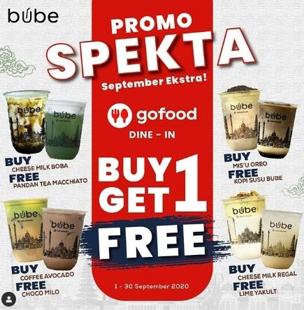 Promo September di Bube Indonesia. (Instagram@bube_indonesia)