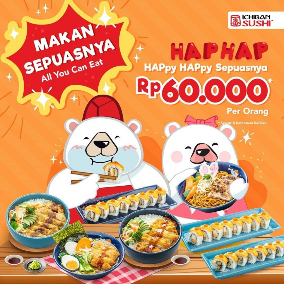 Promo All You Can Eat Ichiban Sushi. (Dok: Instagram/ichibansushi_id)