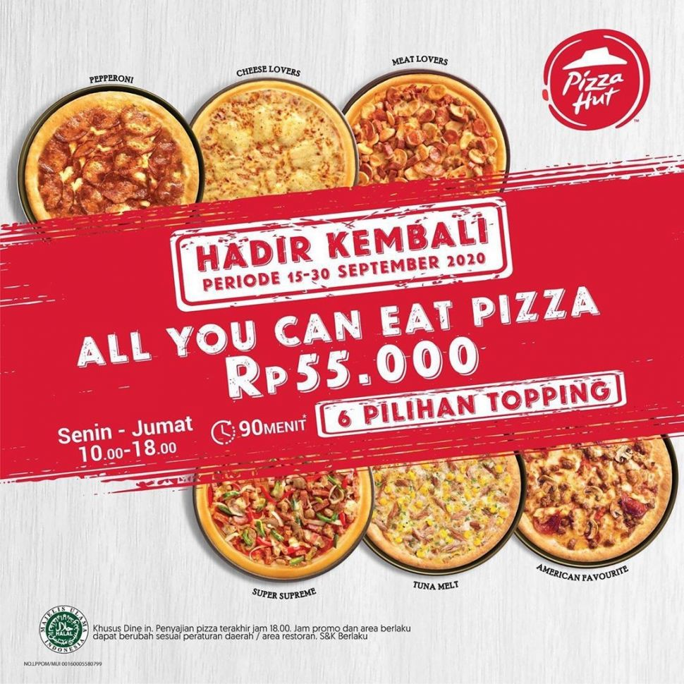 Promo All You Can Eat Pizza Hut. (Dok: Instagram/ichibansushi_id)