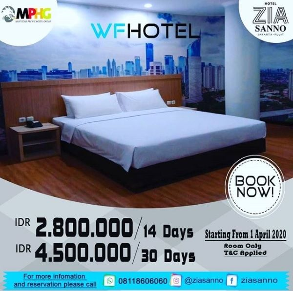 Promo Work From Hotel (Instagram/@ziasannojakartapluit)
