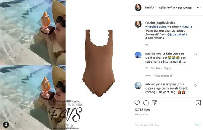 Swimsuit Nagita Slavina (Instagram/fashion_nagitaslavina)