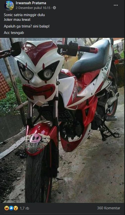 Modifikasi Kawasaki Athlete. (Facebook)