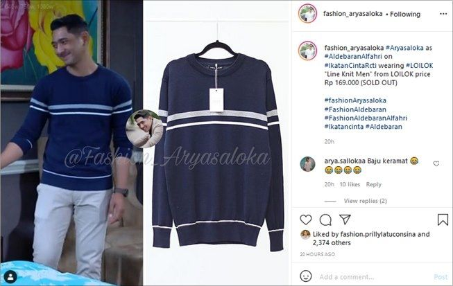 Arya Saloka's clothing collection which costs under Rp. 200 thousand.  (Instagram / @ fashion_aryasaloka)