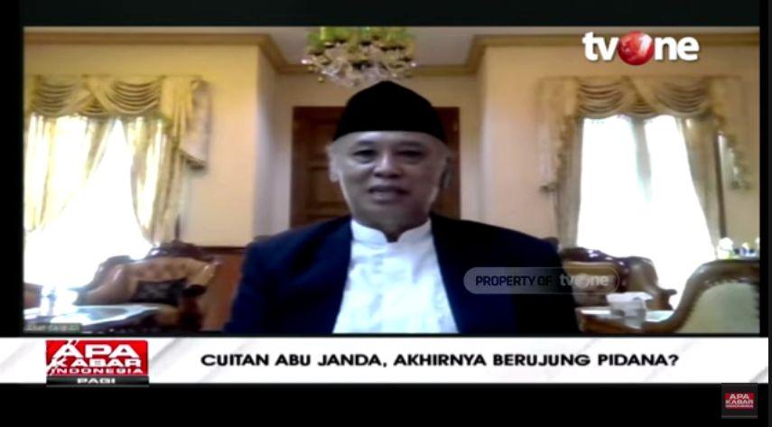Kiai As'ad Said Ali mengomentari polemik Abu Janda (YouTube/ApaKabarIndonesiaTVOne).
