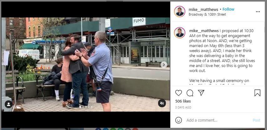 Mau Melamar Pacar, Pria Ini Sampai Bikin Situasi Darurat Palsu (instagram.com/mike__matthews)