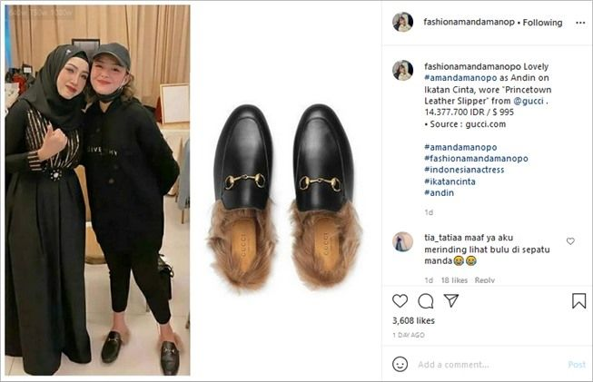 Harganya belasan juta, desain sandal Amanda Manopo bikin merinding. (Instagram/@fashionamandamanopo)