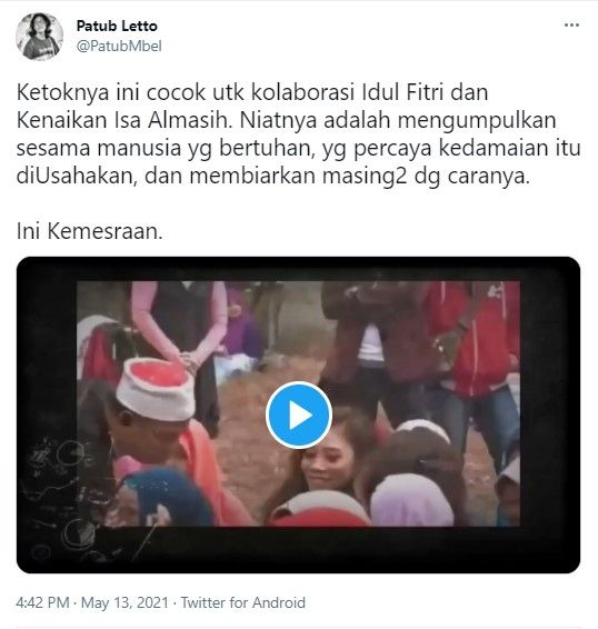 Unggahan Patub Letto - (Twitter/@PatubMbel)