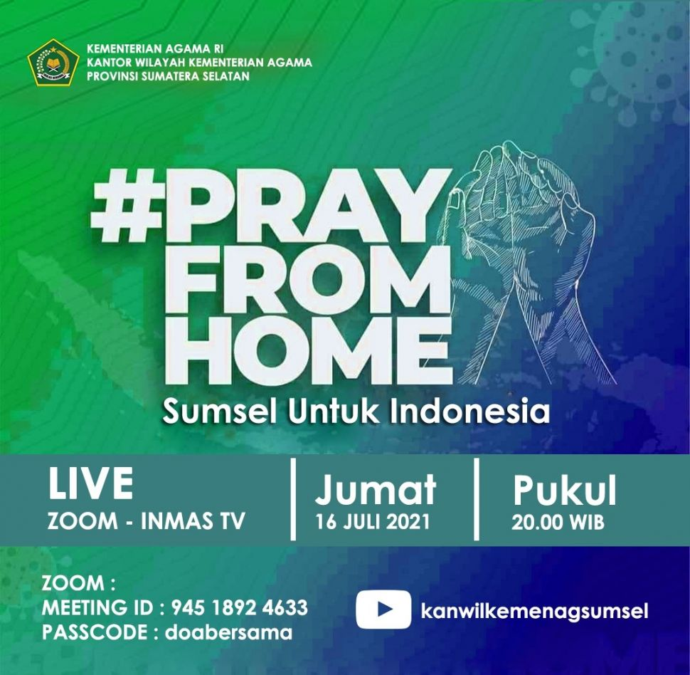 Pray from home di Sumsel [ist]