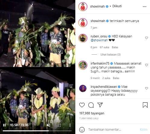 Momen kejutan ulang tahun Soimah (instagram.com)